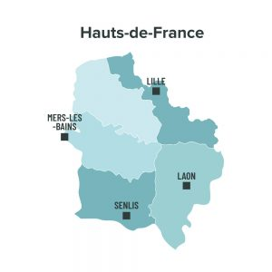 Carte des villes éligibles à la loi Malraux en Hauts de France