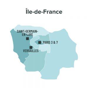 Carte des villes éligibles à la loi Malraux en Ile de France