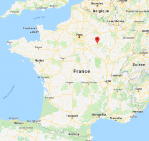 Troyes sur la carte de France