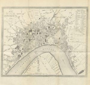 Ancien plan de la ville de Bordeaux