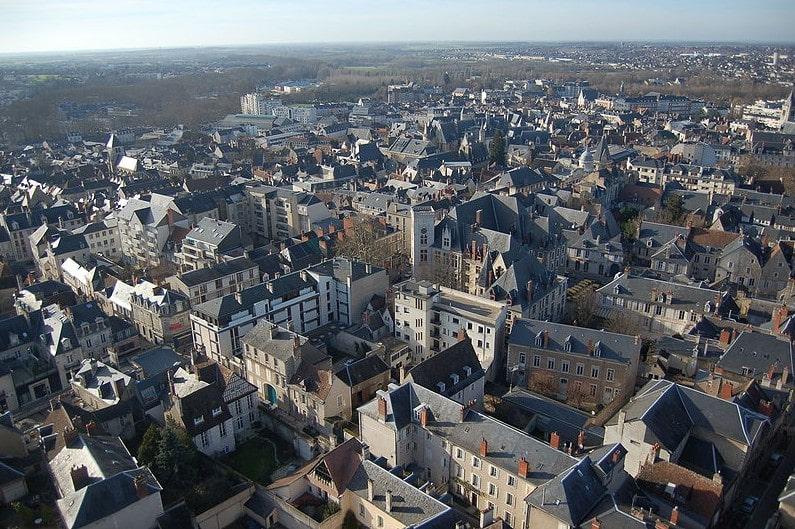 Vue aérienne des immeubles loi Malraux Bourges