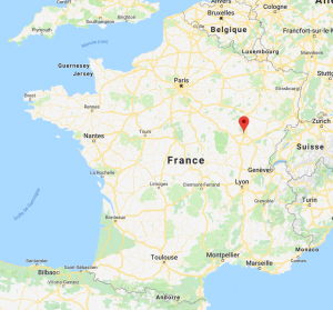 Dijon sur la carte de France