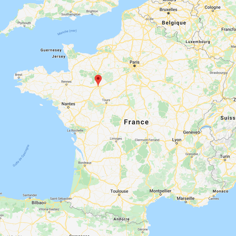 Le Mans sur la carte de France