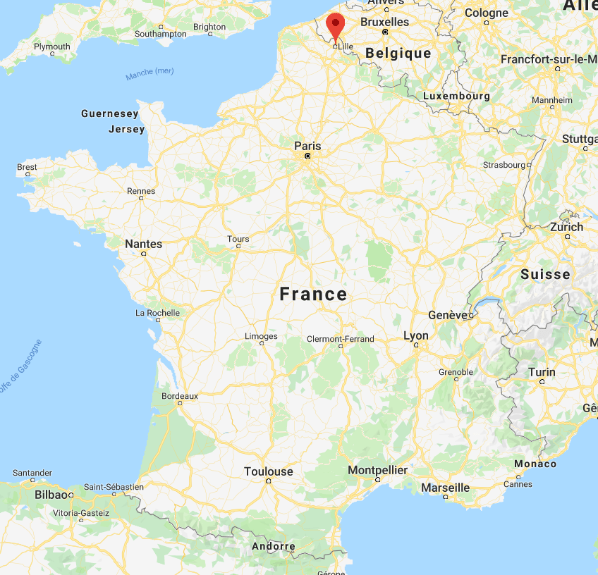 Lille sur la carte de France