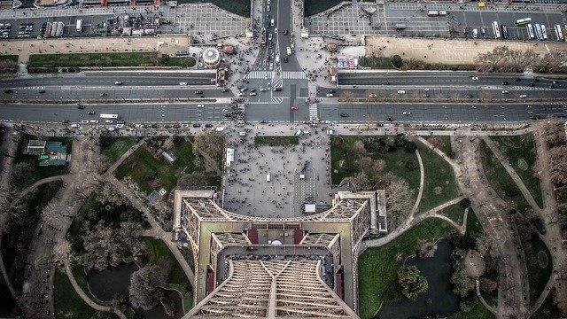 Vue du haut de la tour Eiffel