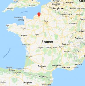 Rouen sur la carte de France