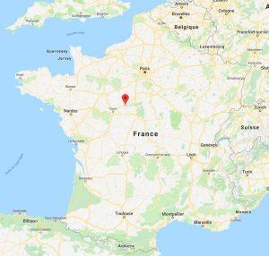 Blois sur la carte de France