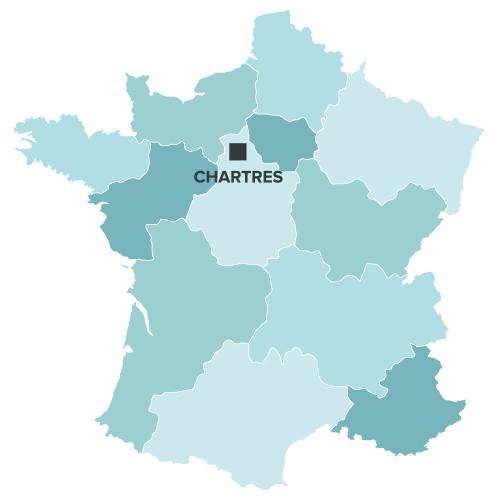 loi malraux chartres sur la carte de france