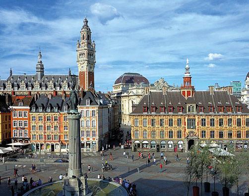 La grande place de Lille au centre de la zone Secteur Sauvegardé Lille