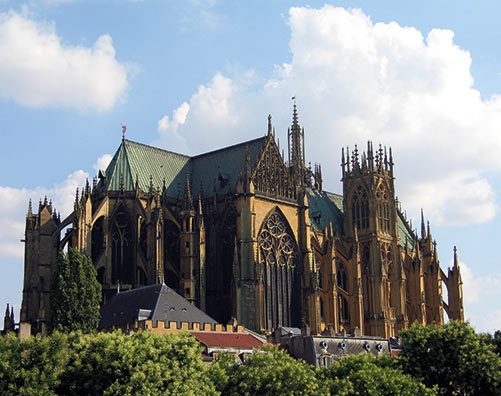 La cathédrale de Metz, au centre du quartier éligible en loi Monuments Historiques
