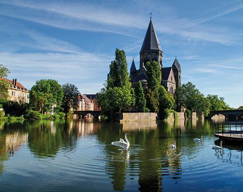 Le Temple-Neuf de Metz, au coeur du centre-ville de Metz