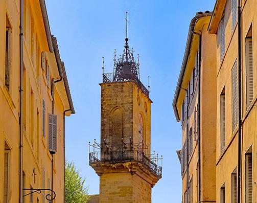 La tour de l'horloge à Aix-en-Provence